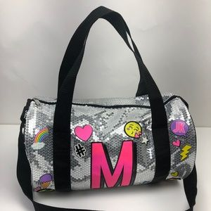 Justice Girl's Initial Emoji Sequin Duffle Bag - M